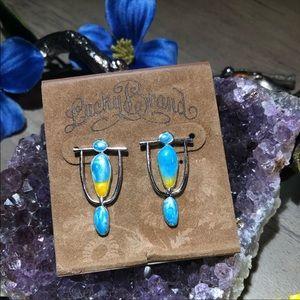 Pearl Enamel .925K Silver Earrings